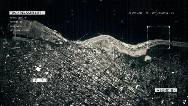 satellite image of asunción - парагвай стоковые видео и кадры b-roll