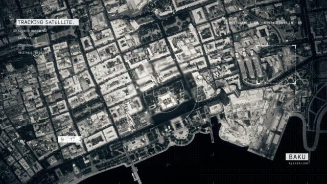 Satellitenbild von Baku – Video