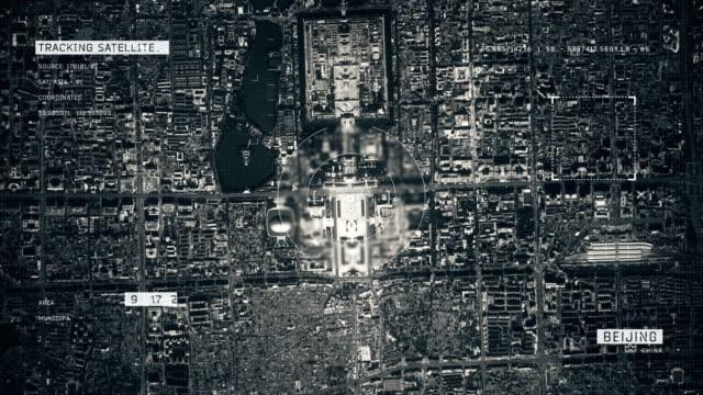 北京の衛星画像 - スパイ点の映像素材/bロール
