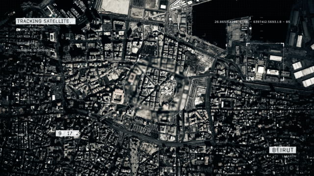 Satellite Image of Beirut 4K Satellite Tracking of Beirut beirut stock videos & royalty-free footage