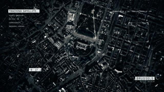 satellitenbild von brüssel - aerial overview soil stock-videos und b-roll-filmmaterial