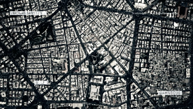 satellite image of damascus - aerial map stock videos & royalty-free footage