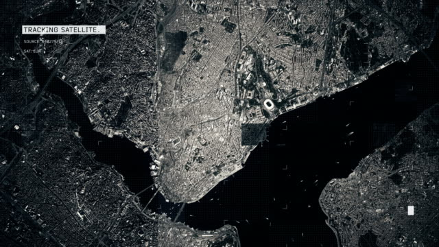 Satellite Image of Istanbul 4K Satellite Tracking of Istanbul istanbul stock videos & royalty-free footage