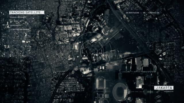 Satellitenbild von Jakarta – Video