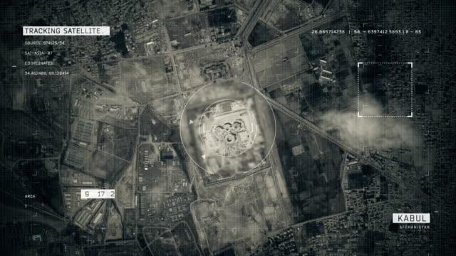 Satellite Image of Kabul 4K Satellite Tracking of Kabul aerial map stock videos & royalty-free footage