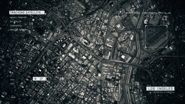 satellite image of los angeles - aerial map stock videos & royalty-free footage