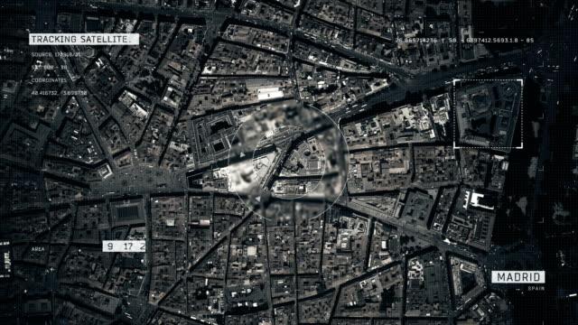Video Satellite Image of Madrid