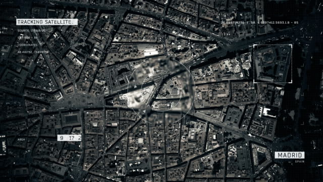 satellite image of madrid - aerial map stock videos & royalty-free footage