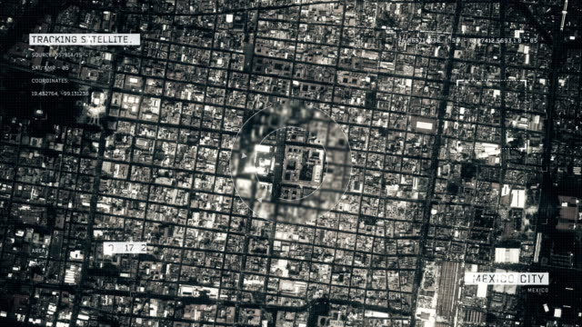 Satellitenbild von Mexiko-Stadt – Video