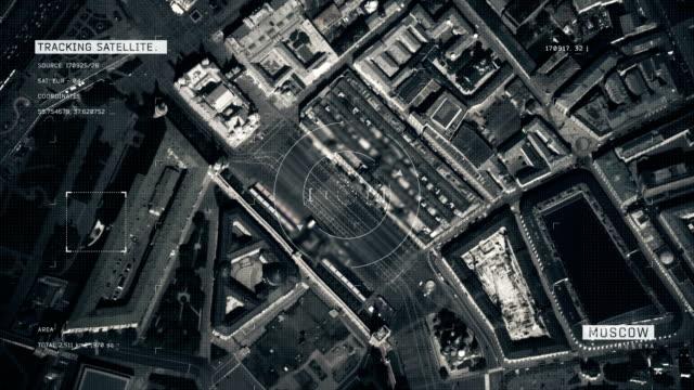 satellite image of moscow - вид со спутника стоковые видео и кадры b-roll