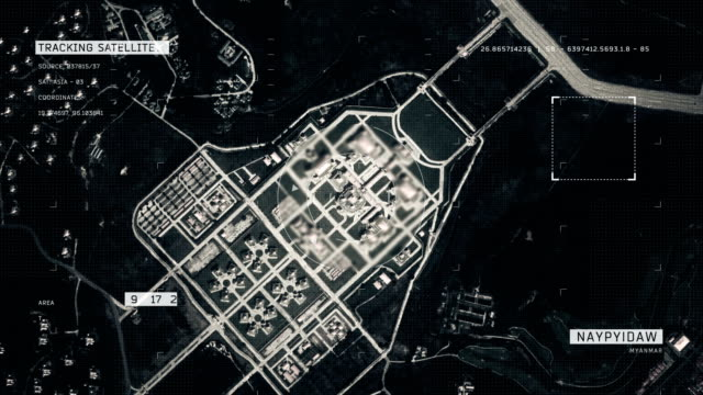 satellite image of naypyidaw - naypyidaw video stock e b–roll