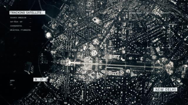 vídeos de stock, filmes e b-roll de imagem de satélite de nova deli - nova delhi