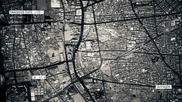 Satellite Image of Riyadh 4K Satellite Tracking of Riyadh aerial map stock videos & royalty-free footage