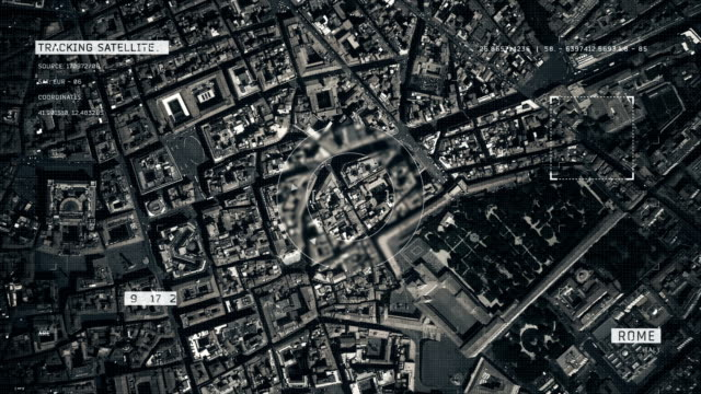 Satellitenbild von Rom – Video