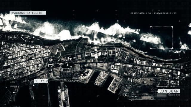 Satellite Image of San Juan 4K Satellite Tracking of San Juan puerto rico stock videos & royalty-free footage
