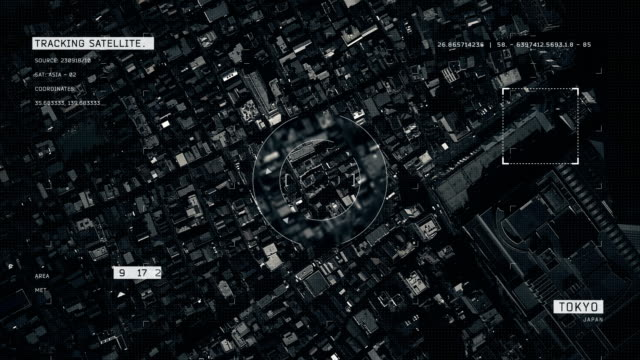 satellite image of tokyo - aerial map stock videos & royalty-free footage
