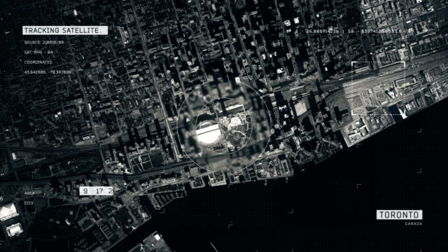satellite image of toronto - aerial map stock videos & royalty-free footage