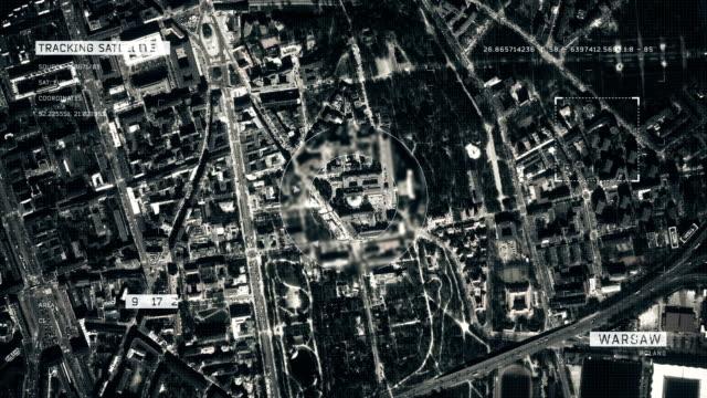satellitenbild von warschau - warschau stock-videos und b-roll-filmmaterial