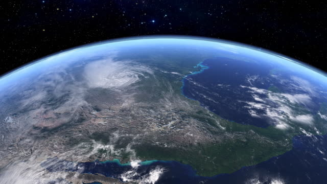 Satellite view of USA in HD video