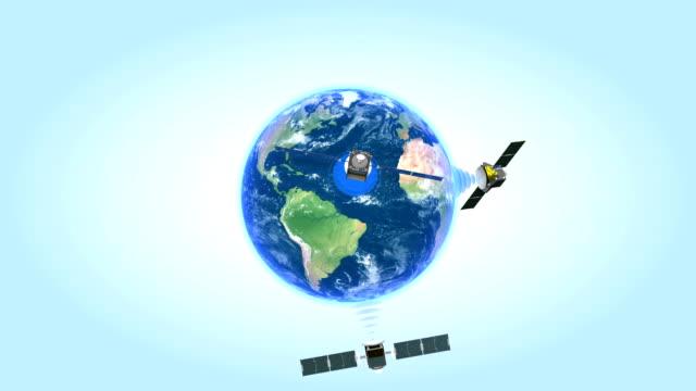 Satellites network. Looped animation. video