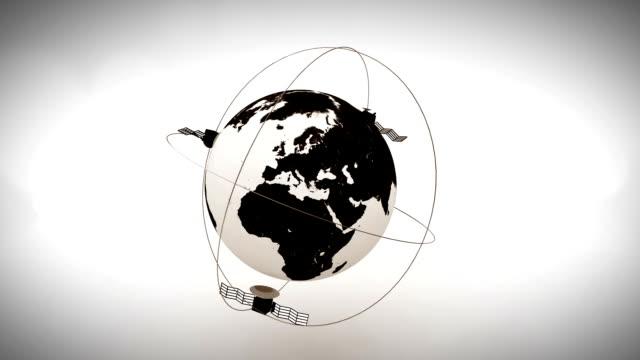 Satellites orbiting the earth. video