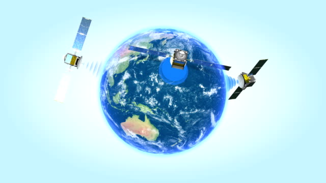 Satellites spinning around the Earth. video