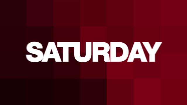 Saturday Text Animation (HD Loop) video