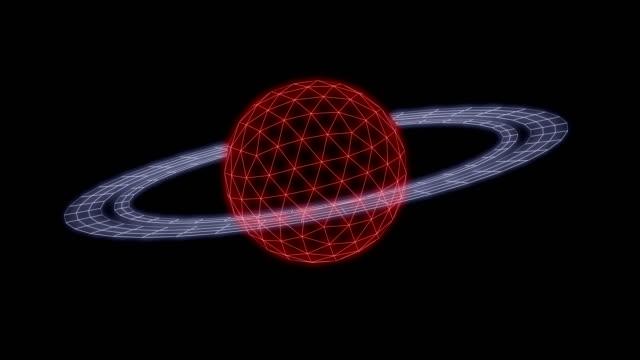 vidéos et rushes de saturn animation synthwave néon 3d rendre la boucle - synthétiseur