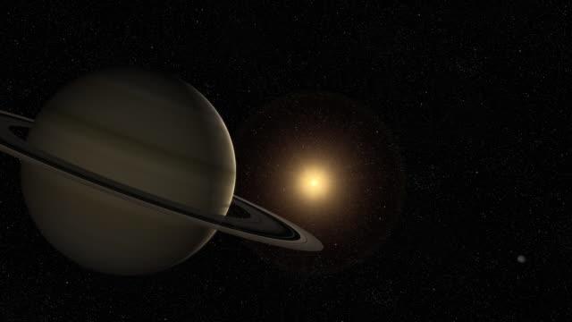 Saturn flyby video