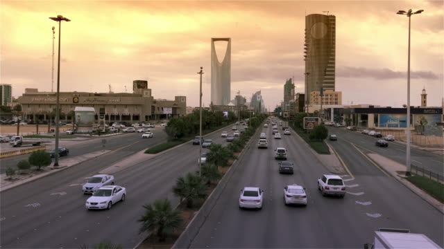 saudi arabia riyadh - paesi del golfo video stock e b–roll