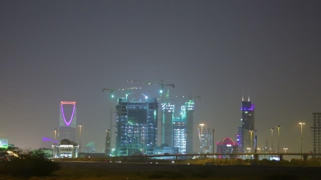 stockvideo's en b-roll-footage met het district van de economische stad van de ssaudi - riyad