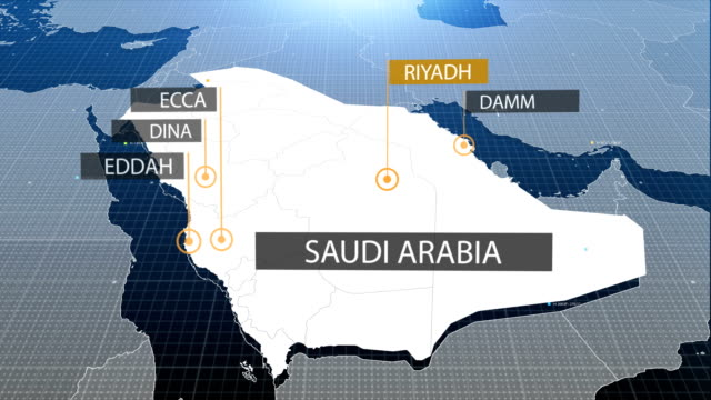 Saudi map with label then with out label video