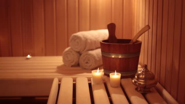 sauna - spabehandling bildbanksvideor och videomaterial från bakom kulisserna