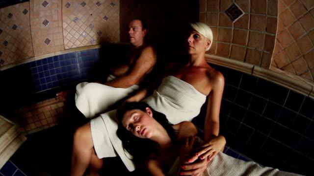 hd :サウナ - 美容室のビデオ点の映像素材/bロール