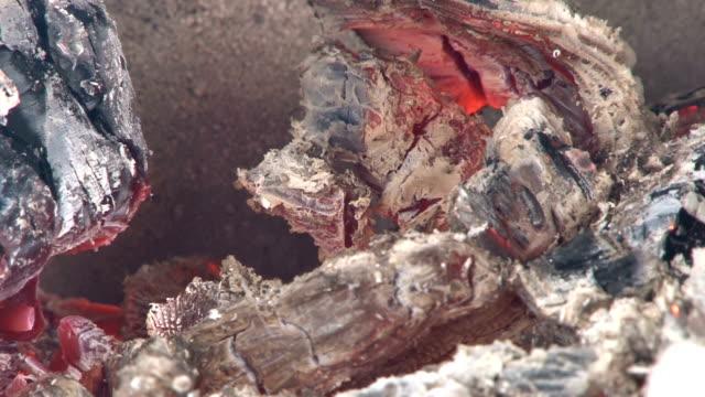 stockvideo's en b-roll-footage met sausage on a bonfire grill - caravan