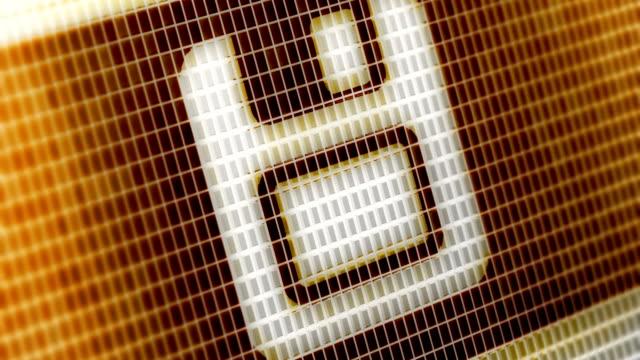 vídeos y material grabado en eventos de stock de guardar el icono en la pantalla. resolución de 4k. bucle. - disquete