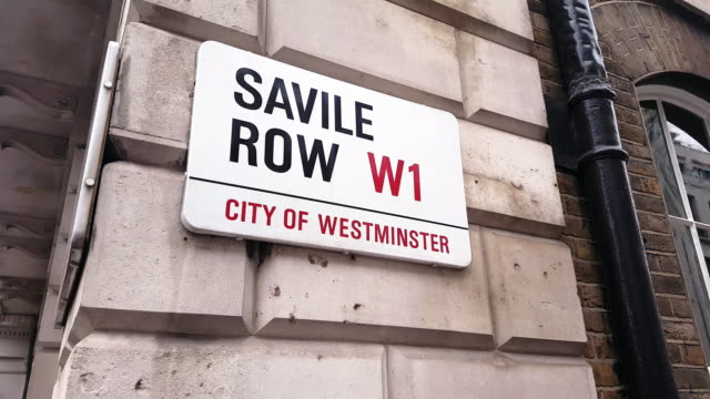 Savile Row Street Name Sign in London Westminster video