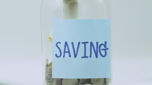 vídeos y material grabado en eventos de stock de concepto de ahorro - planificación financiera