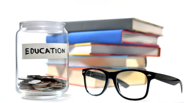 Saving money for education - Time laps video