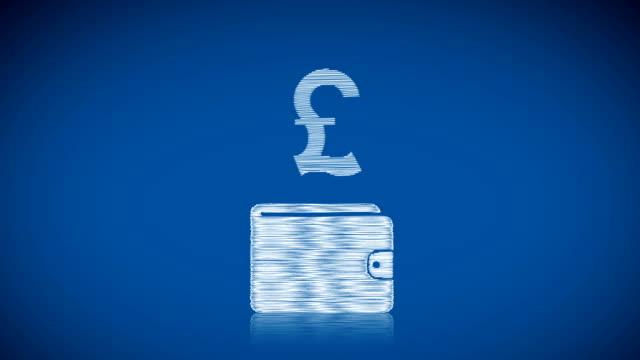 saving pound - pound sterling isolated bildbanksvideor och videomaterial från bakom kulisserna