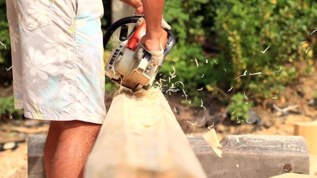 vídeos y material grabado en eventos de stock de sierra de cortar madera para el hogar - descarga eléctrica