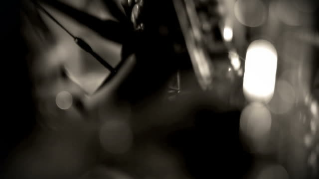 Saxophone Players in Monochrome