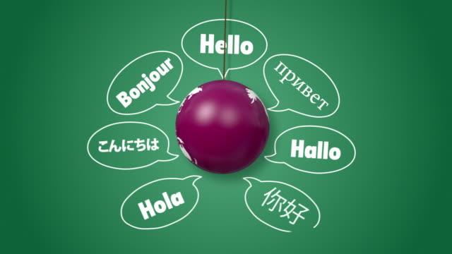 Hello の異なる言語だ。 ビデオ