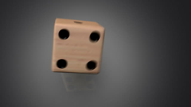 3D dice roll 04 video
