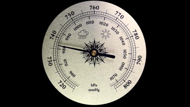 scale barometer. improving weather - barometer bildbanksvideor och videomaterial från bakom kulisserna
