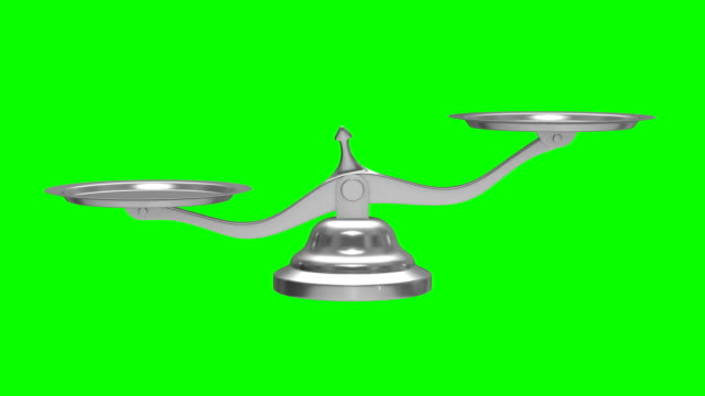 scales on green background. isolated 3d render - paragone video stock e b–roll