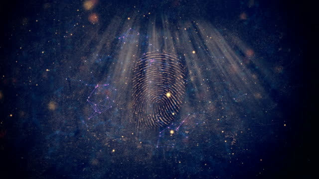 scan fingerprint biometric identity. concept of the future of security and password