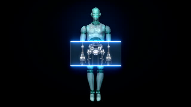 Scanning 3D robot body video
