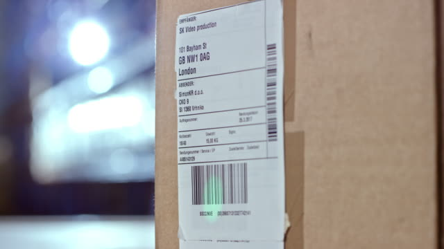 Scanning a code on a shipping label