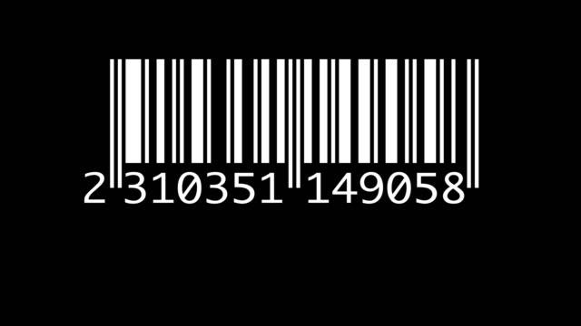 vídeos y material grabado en eventos de stock de escáner de códigos de barras aislado - escáner plano